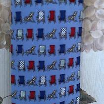 Tommy Hilfiger Men's Tie Light Blue & Navy Blue/beach Chairs Photo