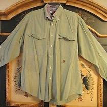 Tommy Hilfiger Men's Vintage Dress Shirt Size M Long Sleeve Photo