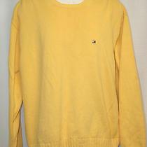 Tommy Hilfiger Men's Xxl Yellow Crewneck Sweater Long Sleeved Photo