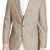 Tommy Hilfiger Mens Blazer Brown Size 40 Short Two-Button Notched 295 086 Photo