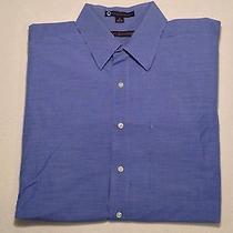Tommy Hilfiger - Mens Ls Button Front Dress Shirt Blue Size 16 (34/35) Photo