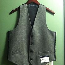 Tommy Hilfiger Mens New Gray Vest 55%Wool 35%Polyester 10%Others Size Small Photo