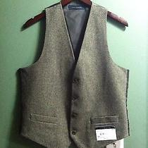 Tommy Hilfiger Mens New Olive Vest 55%Wool 35%Polyester 10%Others Size Small Photo