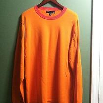Tommy Hilfiger Mens New Orange 100%Cotton Crew Neck Sweater Size Xl Photo
