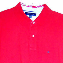 Tommy Hilfiger Mens Red Polo Shirt - Vg Con Sz Xxl 2xl Photo