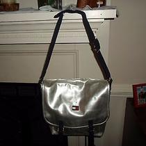 Tommy Hilfiger Messanger or Computer  Bag Silver Metalic  Photo