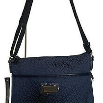 Tommy Hilfiger Messenger Blue/navy Logo Jacquard Crossbody Purse  Nwt 78 Photo