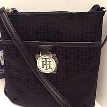 Tommy Hilfiger Messenger Crossbody Bag Black Purse Shoulder Bag New  Photo