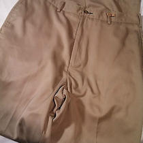 Tommy Hilfiger Microfiber Khaki 34x32 Flat Dress Pants Excellent Condition Photo