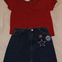 Tommy Hilfiger & Oshkosh Size 6x Shirt and Jean Skirt Outfit.  Gently Worn Photo