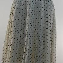 Tommy Hilfiger Pleated Polka-Dot Skirt Antique Whitenew Movaz 520 Photo