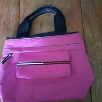 Tommy Hilfiger Purse - Pink W/black Handle - Slightly Used - Canvas Like Photo
