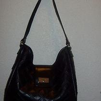 Tommy Hilfiger Quilted Hobo Purse Handbag Faux Leather Black Nwt Photo