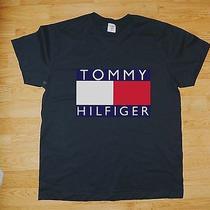 Tommy Hilfiger Rare Vintage T-Shirt 90's Hip Hop Big Logo Biggie Old School Rap Photo