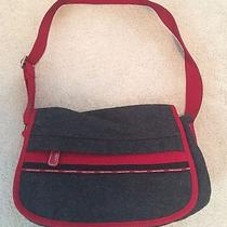 Tommy Hilfiger Red and Gray Felt Purse Photo