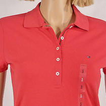 Tommy Hilfiger Size Small Newport Red Flag Emblem Short Sleeve Cotton Polo New Photo