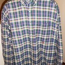 Tommy Hilfiger Size Xl Men's Long Sleeve Button-Down Shirt Multi-Colored Plaid Photo