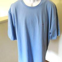 Tommy Hilfiger Size Xxl Men's Short Sleeve Crewneck Shirt Light Blue Photo