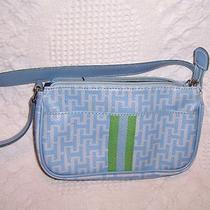 Tommy Hilfiger Small Blue Signature Purse Bag  Photo