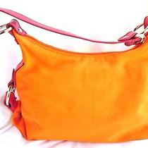 Tommy Hilfiger Small Hobo Orange & Red Bag Snapped Up Photo