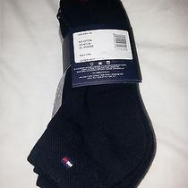Tommy Hilfiger Socks...6 Pairs Three Black Three Gray Combed Cotton...one Size  Photo