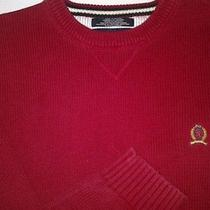 Tommy Hilfiger Solid Classic Solid Red Sweater Christmas Mens Xl  Photo