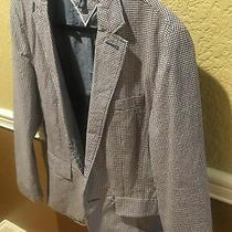 Tommy Hilfiger Spec Edition Cotton Blazer Jacket Suit Coat Mens Med Navy Plaid Photo