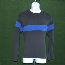 Tommy Hilfiger Sweater Black W/blue Stripe Men's Sz Xl Photo