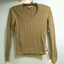 Tommy Hilfiger Tan Cable Knit v Neck Sweater Size S Photo
