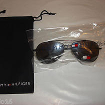 Tommy Hilfiger Th 8055 Aviator Sun Glasses W/drawstring Pouch Case Ths 004 Photo