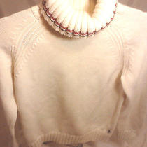 Tommy Hilfiger Turtle Neck Sweater Off White Photo