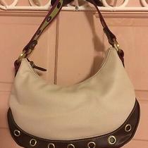 Tommy Hilfiger Vegan White Faux Leather Sling Saddle Handbag Purse Cw Photo