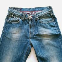Tommy Hilfiger W32 L29 Madison Straight Fit Blue Denim Jeans Photo