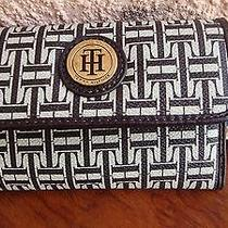 Tommy Hilfiger  Wallet  Brown Ivory  Ht Logo Gold Named  Nwt Photo