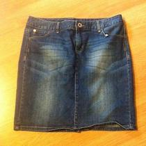 Tommy Hilfiger  Womans Blue Jean Mini Skirt Size 10 Photo