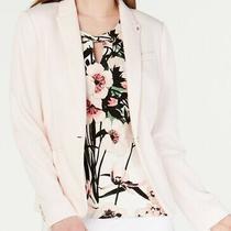 Tommy Hilfiger Women's Blazer Light Blush Pink Size 10 Elbow Patch 139 359 Photo
