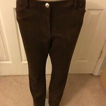 Tommy Hilfiger Women's Brown  Size 12 Faux Suede Skinny Pants Stretch 99 New Photo