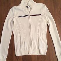 Tommy Hilfiger Women's Sweater Xs /xp Name Brand Full Zip Photo