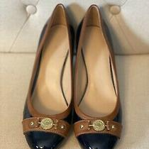 Tommy Hilfiger Women Shoes Kree Size 10 Navy Wedge Heel Pump Pre Owned Photo