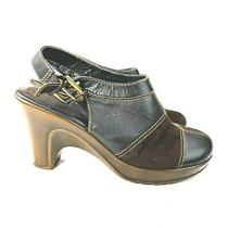 Tommy Hilfiger Womens 8m Brown Mable Suede Leather Mule Clog Shoe Heel Slip on  Photo
