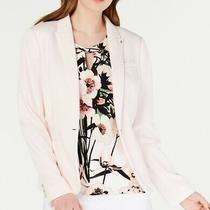 Tommy Hilfiger Womens Blazer Blush Pink Size 8 Peak Label Elbow-Patch 139 011 Photo