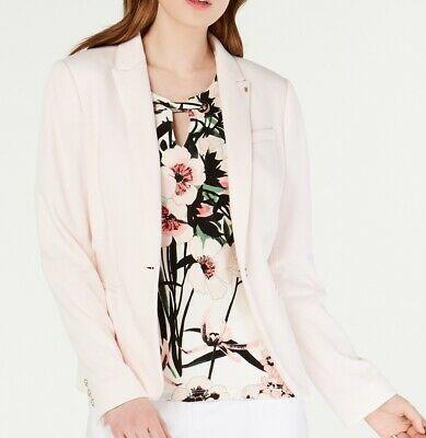 Tommy Hilfiger Womens Blazer Blush Pink Size 8 Peak Label Elbow-Patch $139 011 Photo