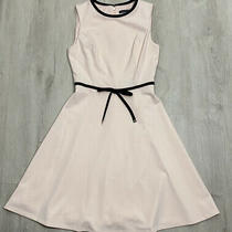 Tommy Hilfiger Womens Size 2 Blush Pink Crepe Bow Tie Waist Dress Photo