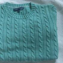 Tommy Hilfiger Womens Sweater Blue Cable Knit Size Xl Photo