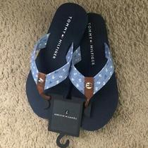 Tommy Hilfiger Womens Thong Flip Flops Sandals Blue Size 7 Photo