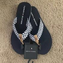 Tommy Hilfiger Womens Thong Flip Flops Sandals Blue Size 8 Photo