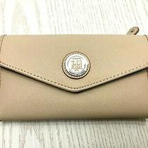 Tommy Hilfiger Womens Wallet Trifold Checkbook Envelope Clutch Vegan Blush Pink Photo