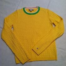 Tommy Hilfiger Yellow Cable Sweater - Size S Photo