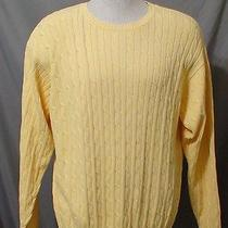 Tommy Hilfiger Yellow Cable X-Large Crewneck Men's Sweater 13934 Photo