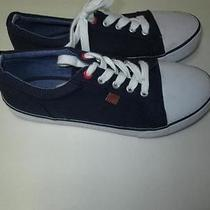 Tommy Hilfiger Youth Canvas Navy Blue Sneakers Size 4 Photo